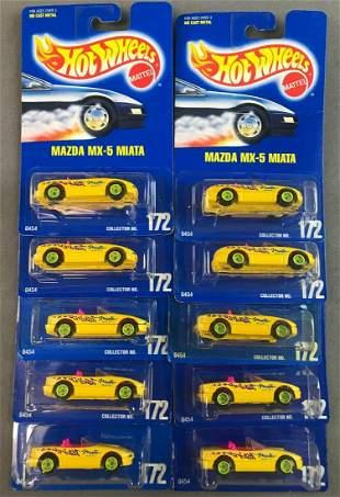 Group of Hot Wheels Mazda MX-5 Miatas