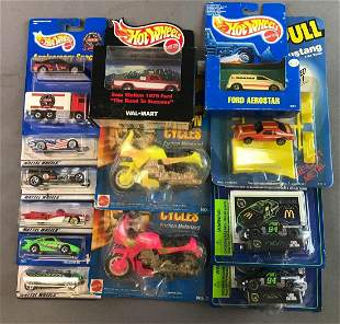 Group of Assorted Collectible Toy Cars and Trucks