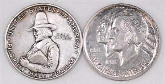 Group of (2) Early Commemorative Silver Half Dollars