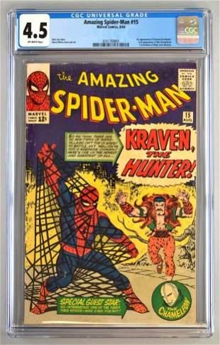 CGC Graded Marvel Comics The Amazing Spider-Man No. 15