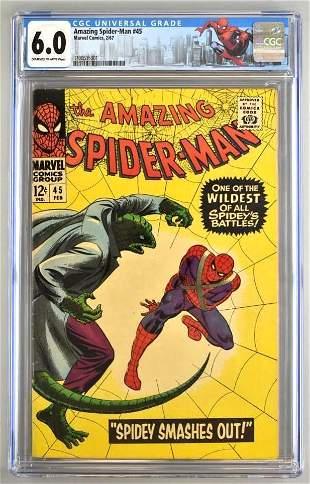 CGC Graded Marvel Comics The Amazing Spider-Man No. 45
