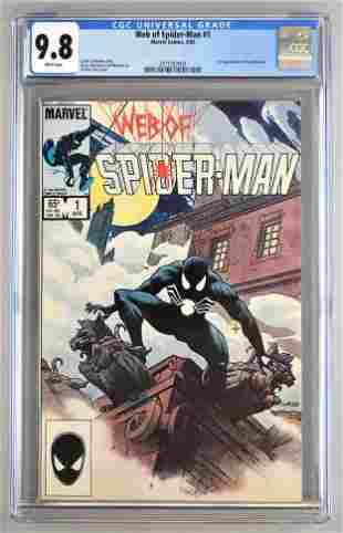 CGC Graded Marvel Comics Web of Spider-Man No. 1 comic