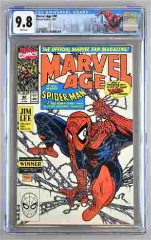 CGC Graded Marvel Comics Marvel Age No. 90 comic book