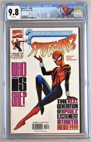 CGC Graded Marvel Comics What If...No. 105 comic book