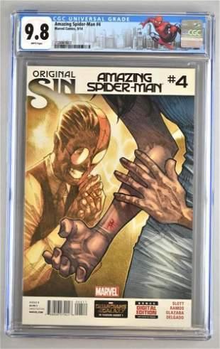 CGC Graded Original Sin Amazing Spider-Man No. 4 comic