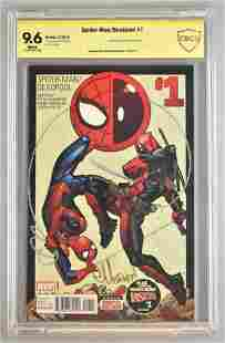 Signed CBCS Graded Marvel Comics Spider-Man/Deadpool