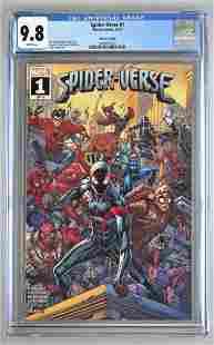 CGC Graded Marvel Comics Spider-Verse No. 1 comic book