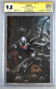 Signed CGC Graded Marvel Comics Venom No. 5 comic book