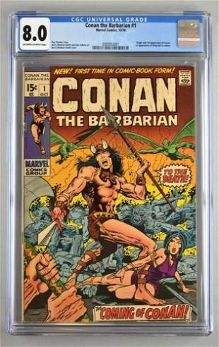 CGC Graded Marvel Comics Conan the Barbarian No. 1