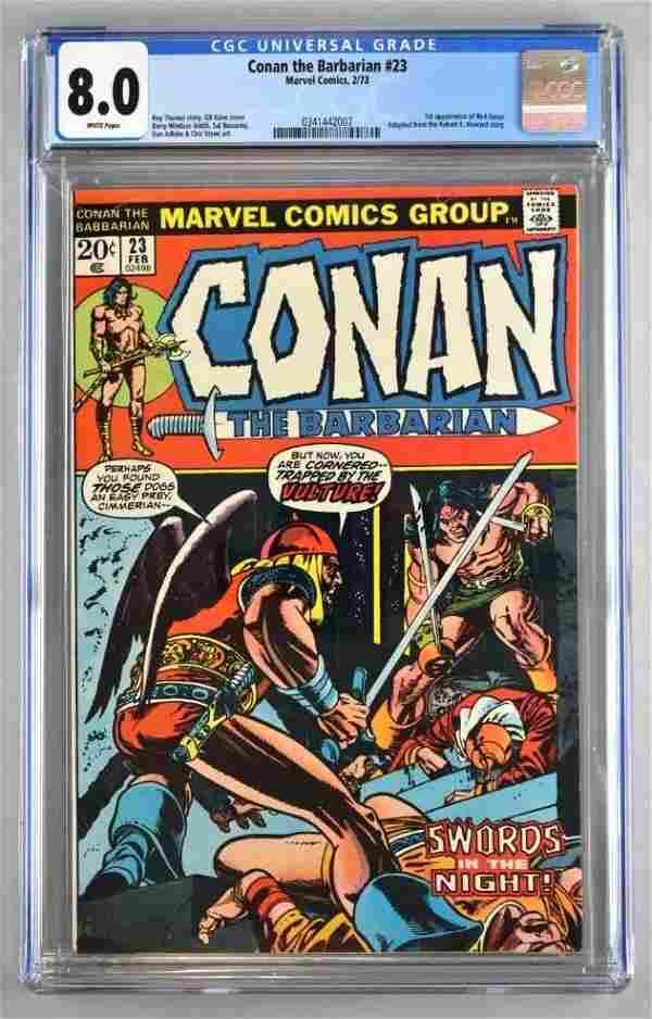 CGC Graded Marvel Comics Conan the Barbarian No. 23