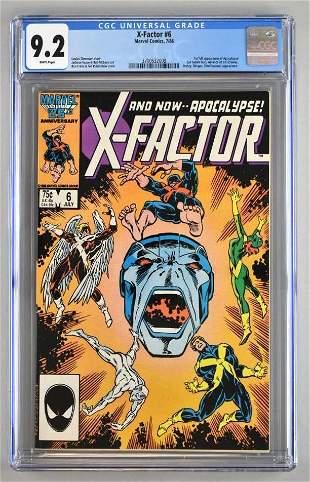 CGC Graded Marvel Comics X-Factor No. 6 comic book