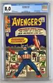 CGC Graded Marvel Comics Avengers No. 16 comic book