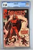 CGC Graded Marvel Comics Avengers No. 57 comic book