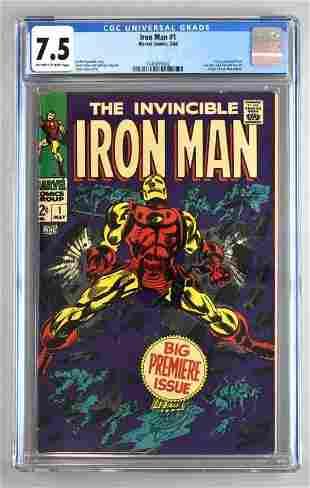 CGC Graded Marvel Comics Iron Man No. 1 comic book
