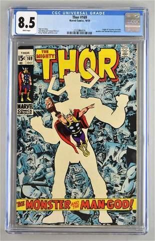 CGC Graded Marvel Comics Thor No. 169 comic book