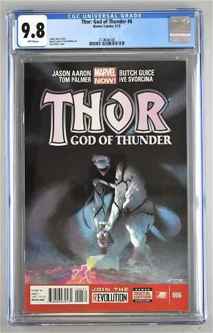 CGC Graded Marvel Comics Thor:God of Thunder No. 6