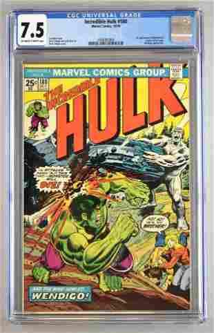 CGC Graded Marvel Comics Incredible Hulk No. 180 comic