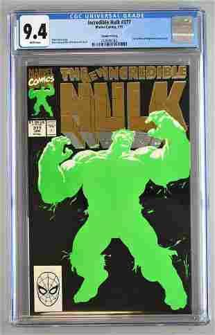 CGC Graded Marvel Comics Incredible Hulk No. 377 comic