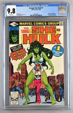 CGC Graded Marvel Comics Savage She-Hulk No. 1 comic