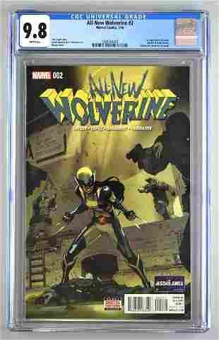 CGC Graded Marvel Comics All-New Wolverine No. 2 comic