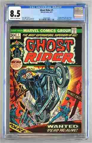 CGC Graded Marvel Comics Ghost Rider No. 1 comic book