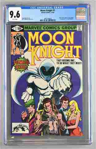 CGC Graded Marvel Comics Moon Knight No. 1 comic book