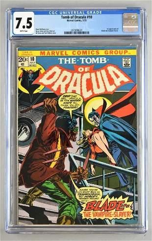 CGC Graded Marvel Comics Tomb of Dracula No. 10 comic