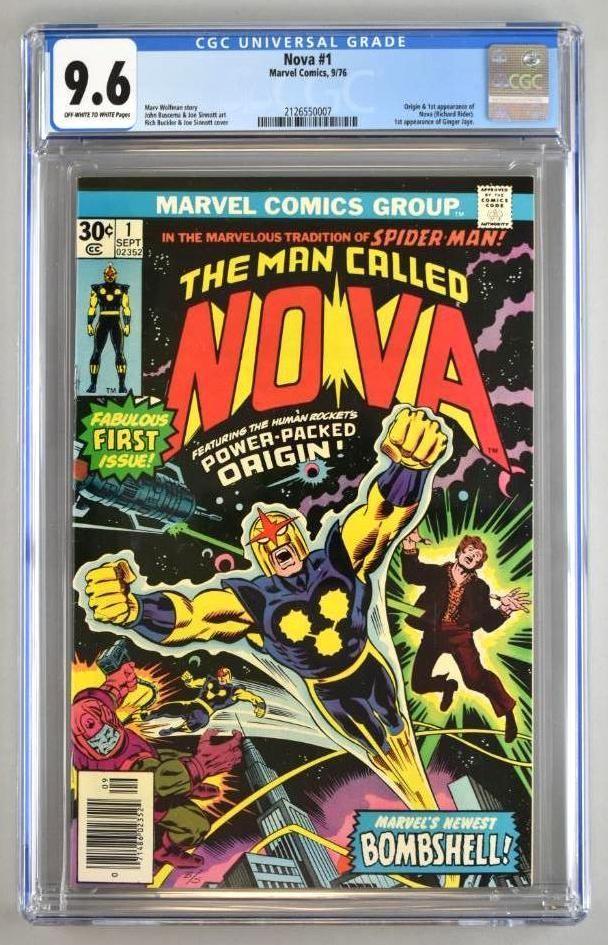 CGC Graded Marvel Comics Nova No. 1 comic book