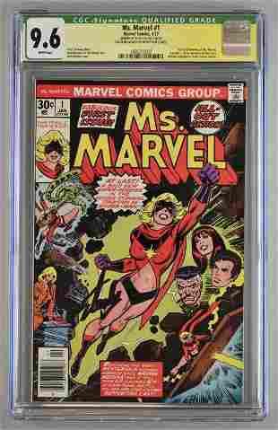 Signed CGC Graded Marvel Comics Ms. Marvel No. 1 comic