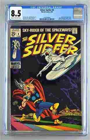 CHC Graded Marvel Comics Silver Surfer No. 4 comic book