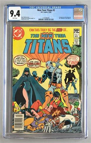 CGC Graded DC Comics New Teen Titans No. 2 comic book