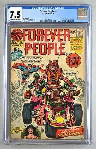CGC Graded DC Comics Forever People No. 1 comic book
