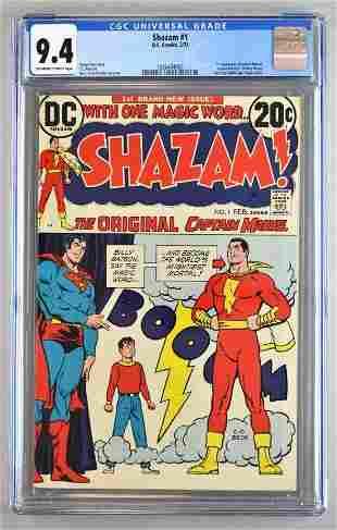 CGC Graded DC Comics Shazam No. 1 comic book