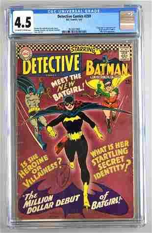 CGC Graded DC Comics Detective Comics No. 359 comic