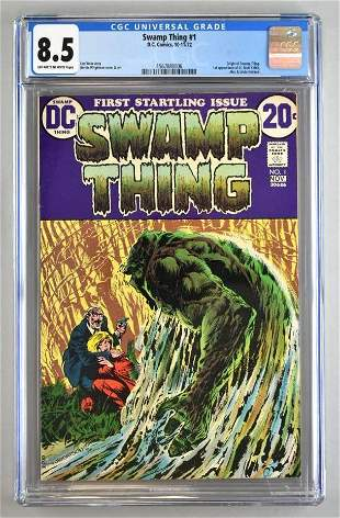 CGC Graded DC Comics Swamp Thing No. 1 comic book