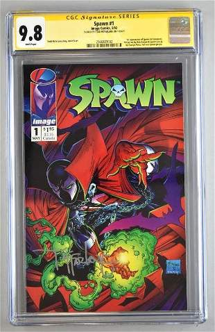 Signed CGC Graded DC Comics Spawn No. 1 comic book