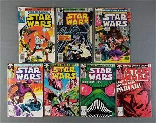 Group of 9 Marvel Comics Star Wars comic books