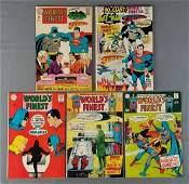 Group of 5 DC Comics Worlds Finest comic books