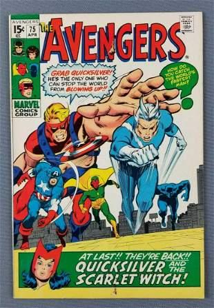 Marvel Comics The Avengers No. 75 comic book
