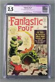 CGC graded Marvel Comics The Fantastic Four No. 1 comic