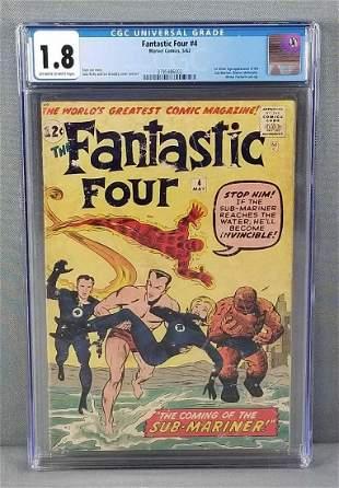 CGC graded Marvel Comics The Fantastic Four No. 4 comic