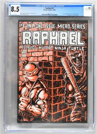 CGC Graded Mirage Studios Raphael No. 1 comic book