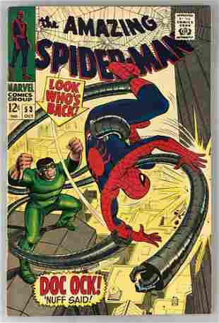 Marvel Comics The Amazing Spider-Man No. 53 comic book