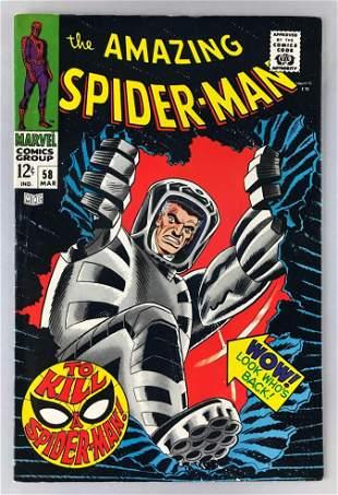 Marvel Comics The Amazing Spider-Man No. 58 comic book