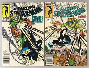 Group of 2 Marvel Comics The Amazing Spider-Man comic