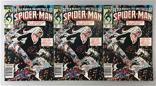 Group of 3 Marvel Comics The Spectacular Spider-Man No.