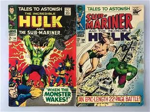 Group of 2 Marvel Comics Tales To Astonish comic books