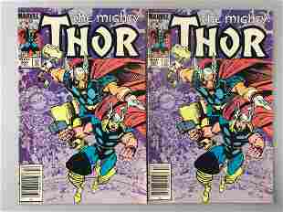 Group of 2 Marvel Comics The Mighty Thor No. 350 comic