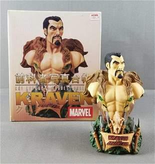 Kraven the Hunter bust statue in original box