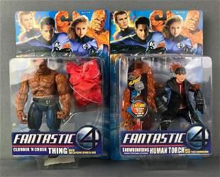 2 Marvel Fantastic 4 Action Figures
